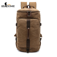 Men Climbing Bags Large Capacity Cylinder Round Bucket Canvas Hiking Travel Duffel Shoulder Bag Suitcase Luggage Tas Pack XA82D