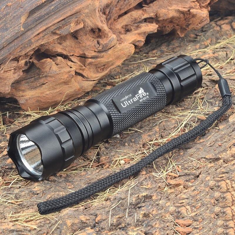 UltraFire WF-501B R2-WC 5-Mode 250LM Memory White LED Flashlight w/ Charger (1 x 18650/2 x 123A) ultrafire wf 501b 885lm 5 mode memory white light flashlight red 1 x 18650