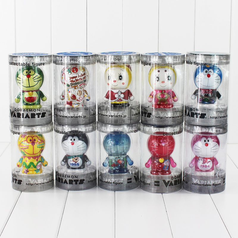 10pcs lot 7cm Anime Doraemon Gadget Future Kawaii Toys PVC Action Figure Collection Model Doll