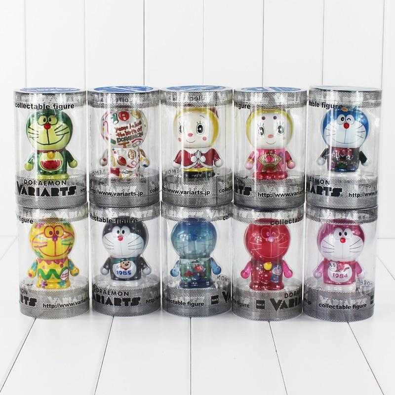 10 sztuk/partia 7cm Anime Doraemon gadżet przyszłości Kawaii zabawki pcv figurka model kolekcjonerski dla lalek w Figurki i postaci od Zabawki i hobby na  Grupa 1