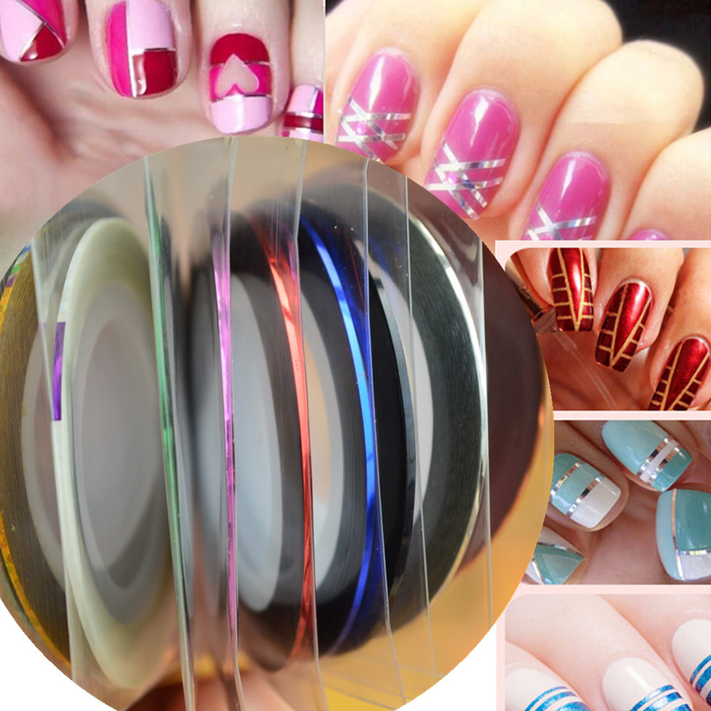 Aliexpress.com : Buy 1pcs NEW Metallic Nail Art Tape Lace Line ...