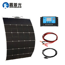 150w flexible solar panel 20A PMW controller cable MC4 conector PV module NEW cell for 12v battery