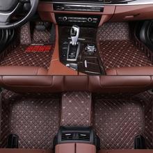custom car floor mats For Citroen C2 2003-2013 C3 2004-2008 C3-XR 2015-2018 C5 2007-2012 car leather waterproof floor mats custom car floor mats for citroen all models c4 c5 c2 c3 drain black gray red blue auto accessories car styling