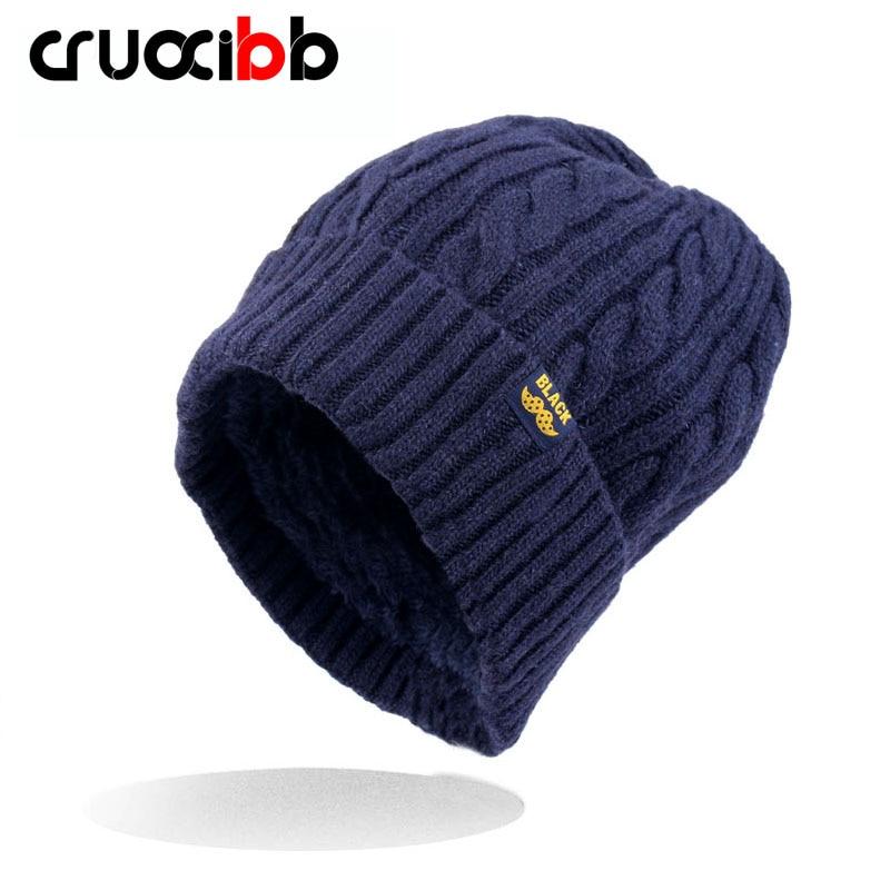 CRUOXIBB Women Winter warm Wool Knit Hats Autumn Fashion s