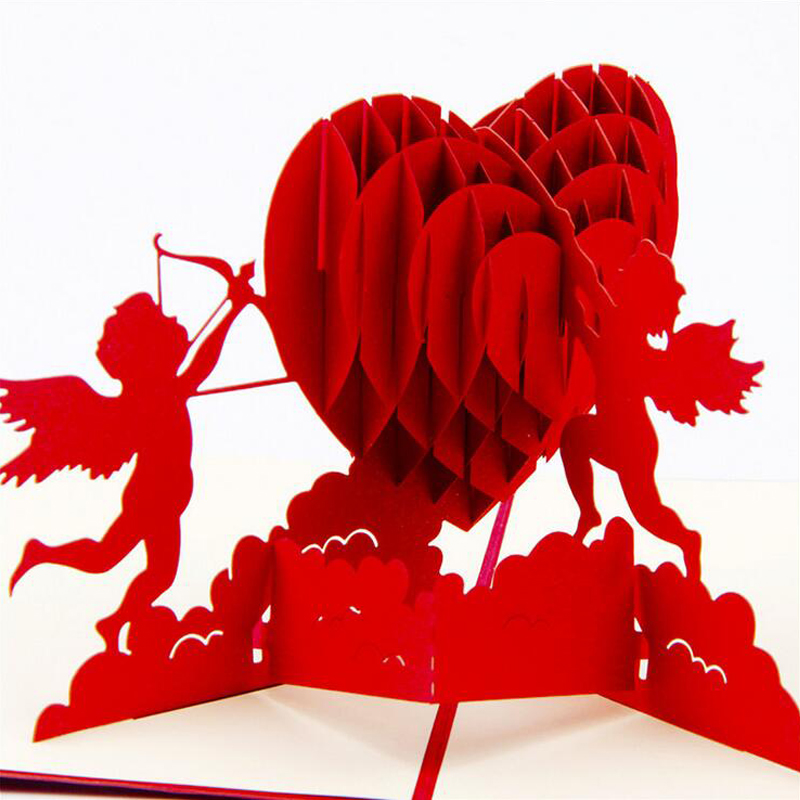 Fashion 3d pop up foldable cut paper greeting cards creative fashion 3d pop up foldable cut paper greeting cards creative handmade love cupid post cards valentines wedding xmas gift in cards invitations from home m4hsunfo