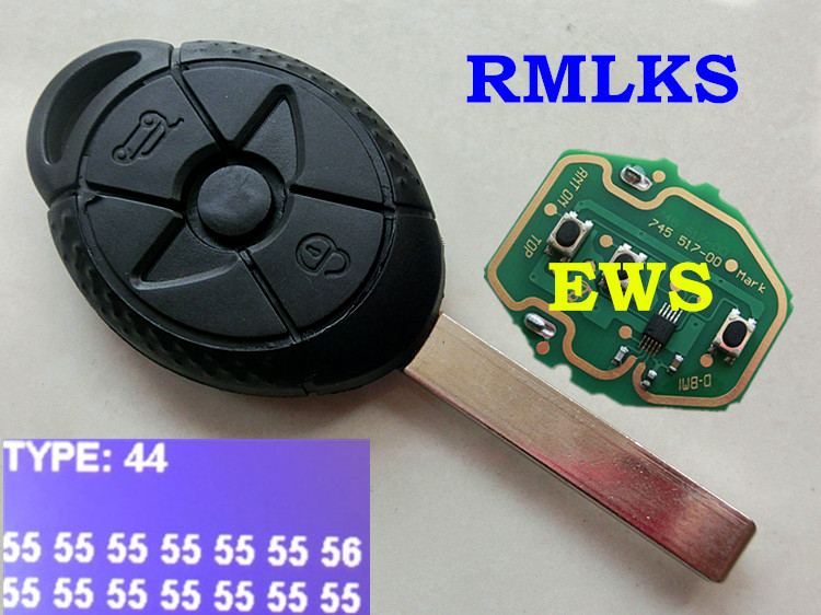 Rmlks Full Remote Key Replacement Car Key 315mhz 433mhz Id44 Pcf7935