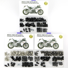 For Aprilia RSV4 2010 2011 2012 2013 2014 Motorcycle Cowling Complete Full Fairing Bolts Kit Clips Bodywork Screws Nuts Steel for suzuki gsx1300r hayabusa 2008 2018 2009 2010 2011 2012 2013 2014 2015 complete full fairing bolts kit clips nuts stainless
