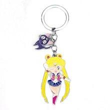 Cartoon Keyring Sailormoon Keychain Alloy-Pendant Girl Gift Anime Cute Cosplay for Children