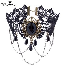 YiYaoFa Vintage Choker Necklace Gothic Jewelry Necklaces & Pendants False Collar Statement Necklace for Women Accessories GN-07(China)