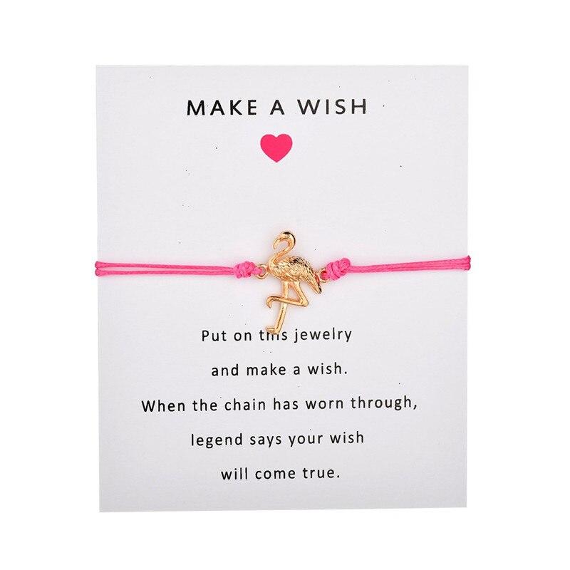 Flamingo Jewellery Flamingo Wish Bracelet Friendship Bracelet Flamingo Gift