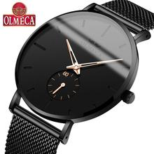 OLMECA Sport Military Men's Wrist Watch Luminous Chronograph Waterproof Quartz Watches Auto Date relogio masculino DropShip auto date