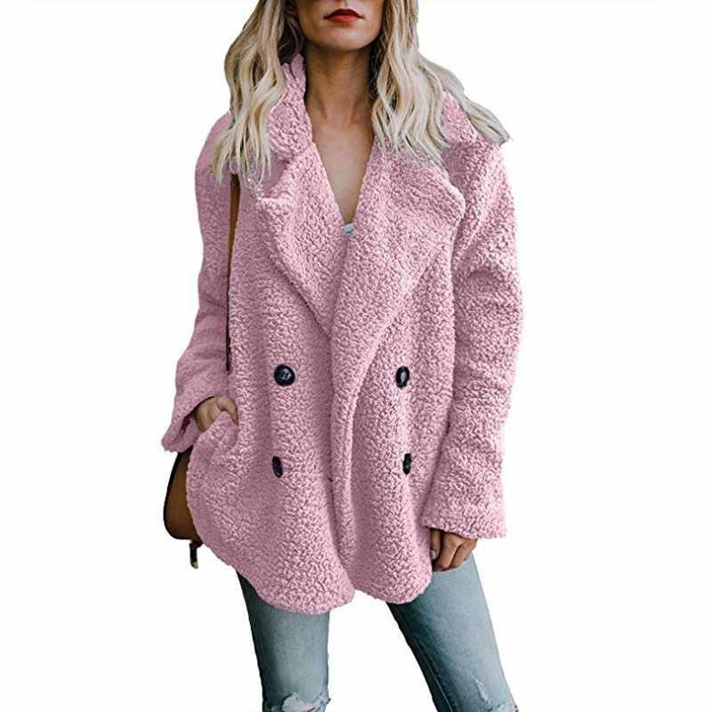 Autumn and winter fashion button lapel coat for women woollen coat   251