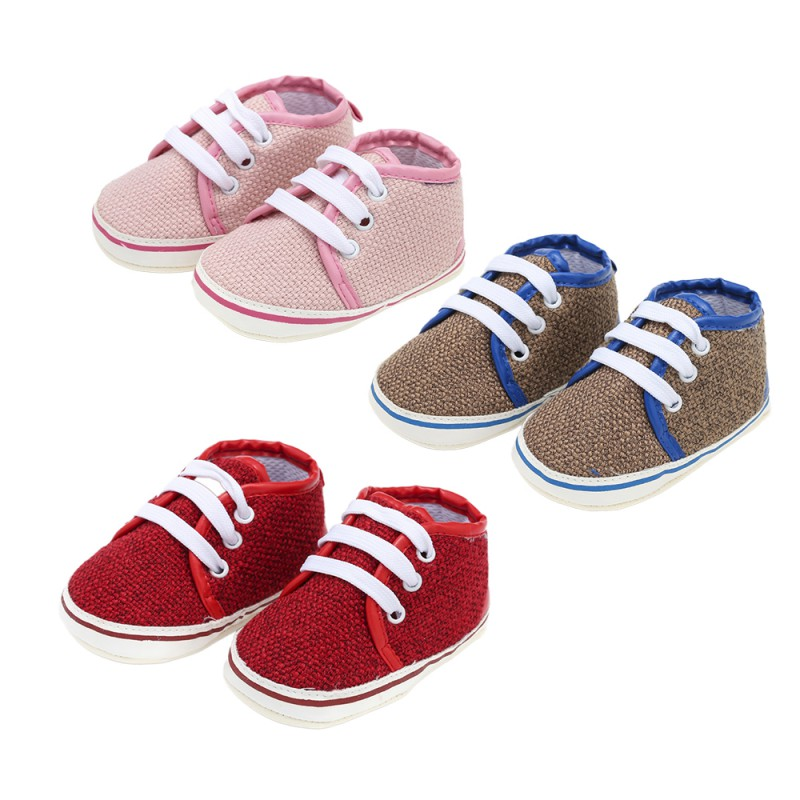 Toddler Shoes Sneakers Newborn-Lace-Up Infant Baby Casual Rubber 0-18m-W Bottom