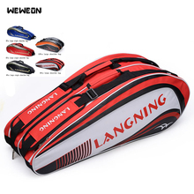 Tennis Racket Bag 3-12Pcs Badminton Racket Sports Shoulder Bag Racquet Sport Bags 3 Models With Double Main Bag Sac de raquette
