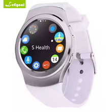 Leegoal Smart watch android heart rate monitor remote control music round Wristband smartwatch for ios android smartphone