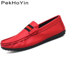 hot deal buy fashion brand leather men casual shoes black footwear soft rubber male loafers shoes white for mens shoes sales flat designer