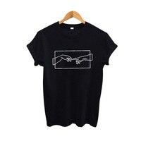 Женская модная футболка с принтом 2019 новая одежда Tumblr черная белая хлопковая Футболка эстетическое искусство Harajuku графическая футболка