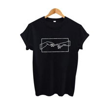 Womens Fashion Print T-shirt 2019 New Tumblr Clothing Black White Cotton T Shirt Aesthetic Art Harajuku Graphic Tee Shirt