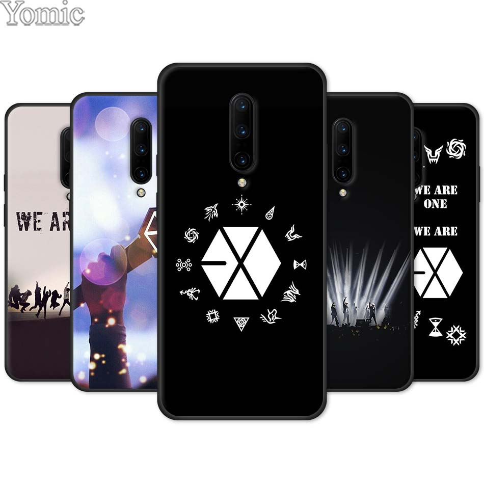 EXO band k pop kpop Black Case for font b Oneplus b font font b 7