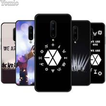 EXO band k-pop kpop Black Case for Oneplus 7 7 Pro 6 6T 5T Silicone Phone Case for Oneplus 7 7Pro Soft TPU Cover Shell