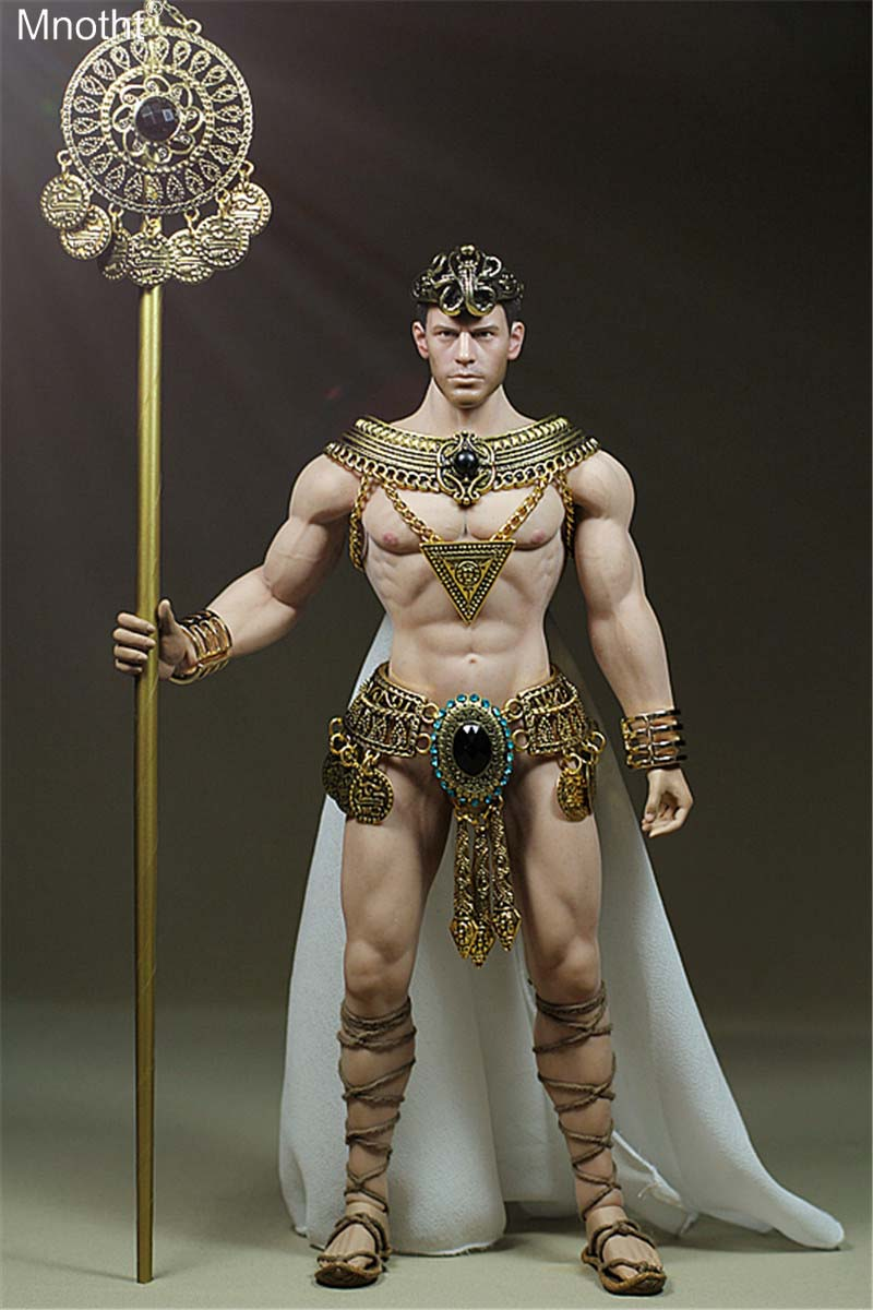 Mnotht 1/6 Prince Egypt Cloak Shoulder Metal Underpants Model Male Soldier Clothes Toy Fit PH Steel Bone Glue for Action Figure