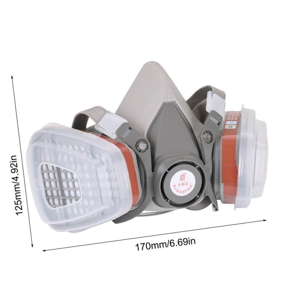 Professional Full Face Facepiece Respirator For Painting Spraying Work Safety Masks Prevent Organic Vapor Gas Drop Shipping Party Masks
