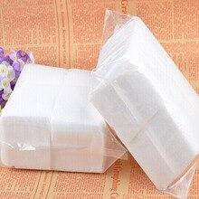 Lingettes tampons en coton Gel acrylique dissolvant de manucure, 400 pièces/ensemble pour femmes et filles