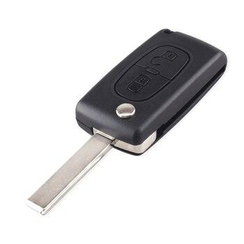 Case chiave per Peugeot 307 207 107 308 3008 407 407 607 Citroen C2 C3 C4 C5 C6 C8 433MHz ID46 Chip 1
