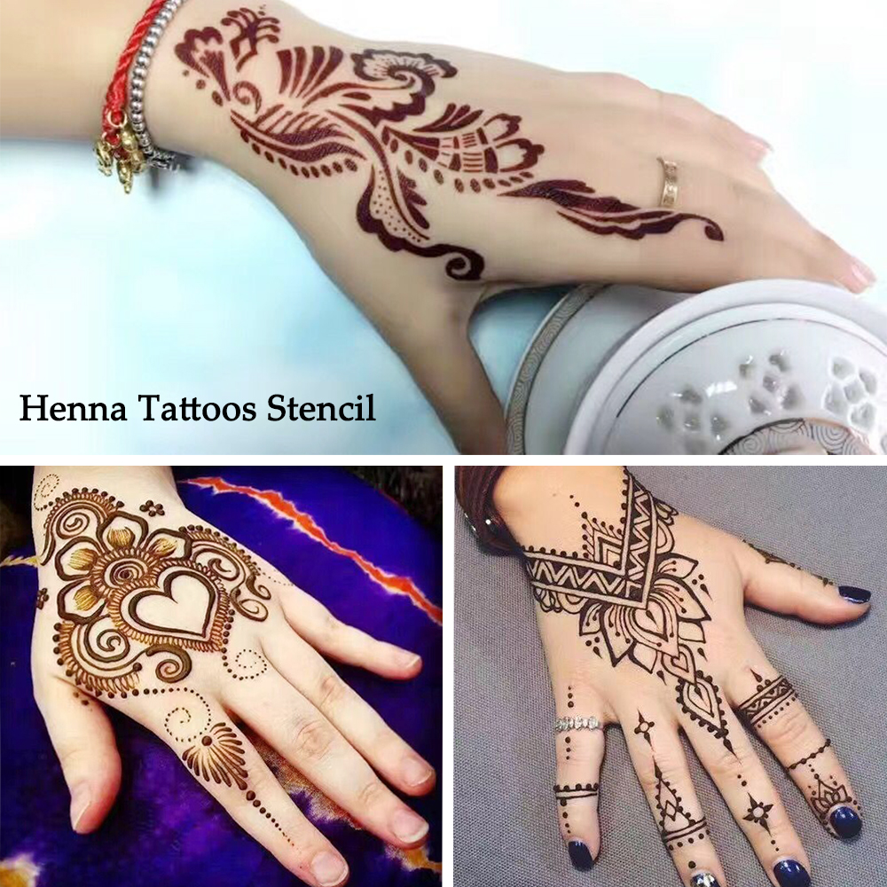 Aliexpress Com Buy 1 Set Hot Hollow Temporary Henna Tattoo