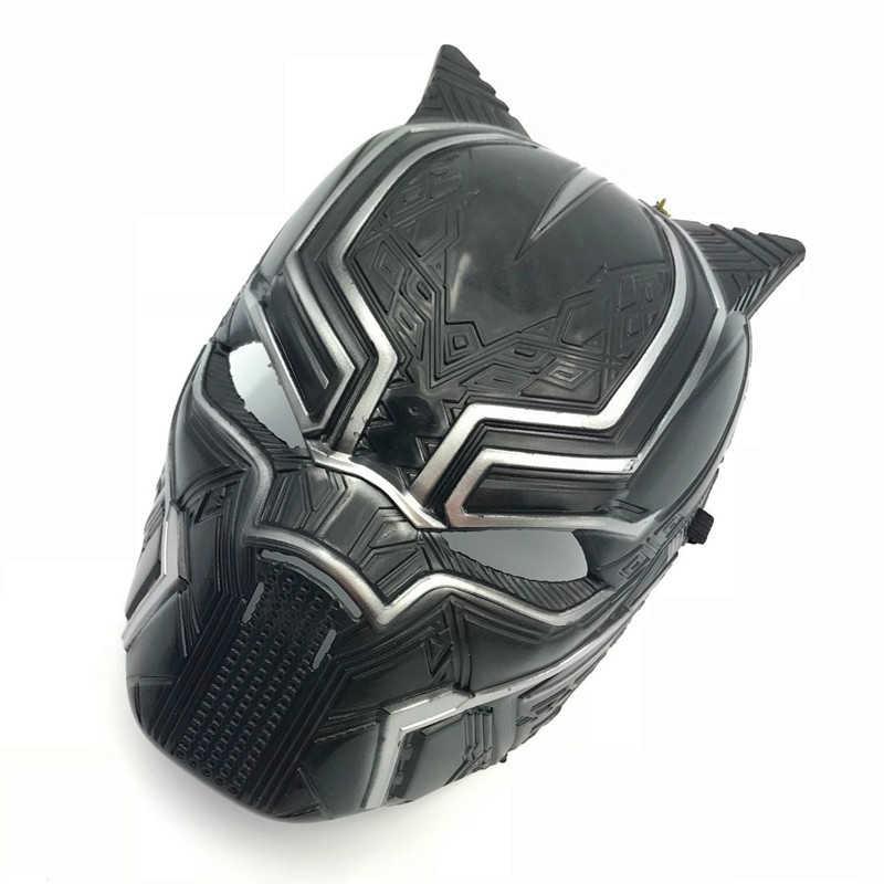 Casco de Halloween Capitán América 3 guerra Civil negro máscara de pantera superhéroe Anime película alrededor Cos máscaras