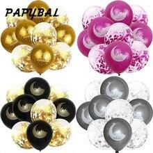 Ballons de confettis EID MUBARAK, 10 pièces pour décoration de laïd musulman, à lhélium, pour fête musulmane, boule à Air