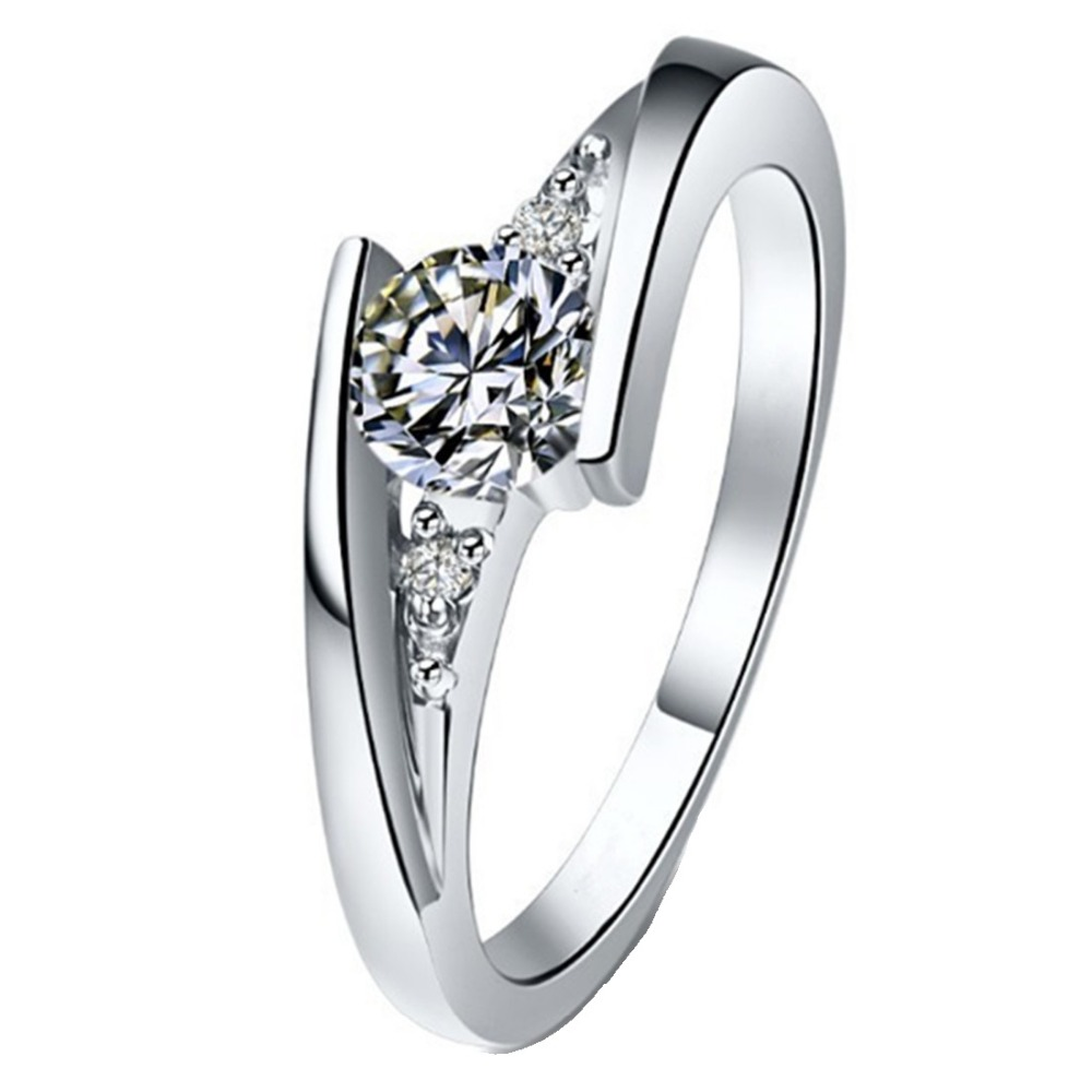 1CT 925 Ring Star Brilliant SONA Propose Simulate Diamond Ring Engagement For Women Sterling Silver Jewelry