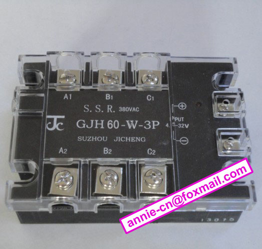 New and original GJH60-W-3P JICHENG 3-PHASE AC SOLID STATE RELAY   SSR 60A 4.5-32vDC, 380VAC high quality ac ac 80 250v 24 380v 60a 4 screw terminal 1 phase solid state relay w heatsink