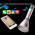 11.11 Big promotion k068 karaoke player wireless condenser microphone with mic speaker ktv sing for iphone Samsung free shipping