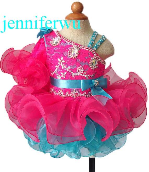 купить one sleeve clothes baby girl  and girl party dresses girl brand clothes baby girl pageant dress G008-11 дешево