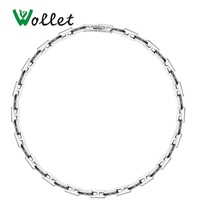 Wollet Jewelry Stainless Steel Letter H Necklace for Men Women Silver Color No Plating Simple Design
