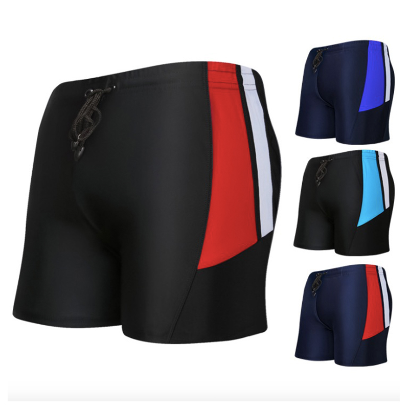 2018 Summer Men Print Square Leg Elastic Swimming Trunks Racing Swim Pants Bathing Shorts Beach Swimwear Boxer Board Briefs