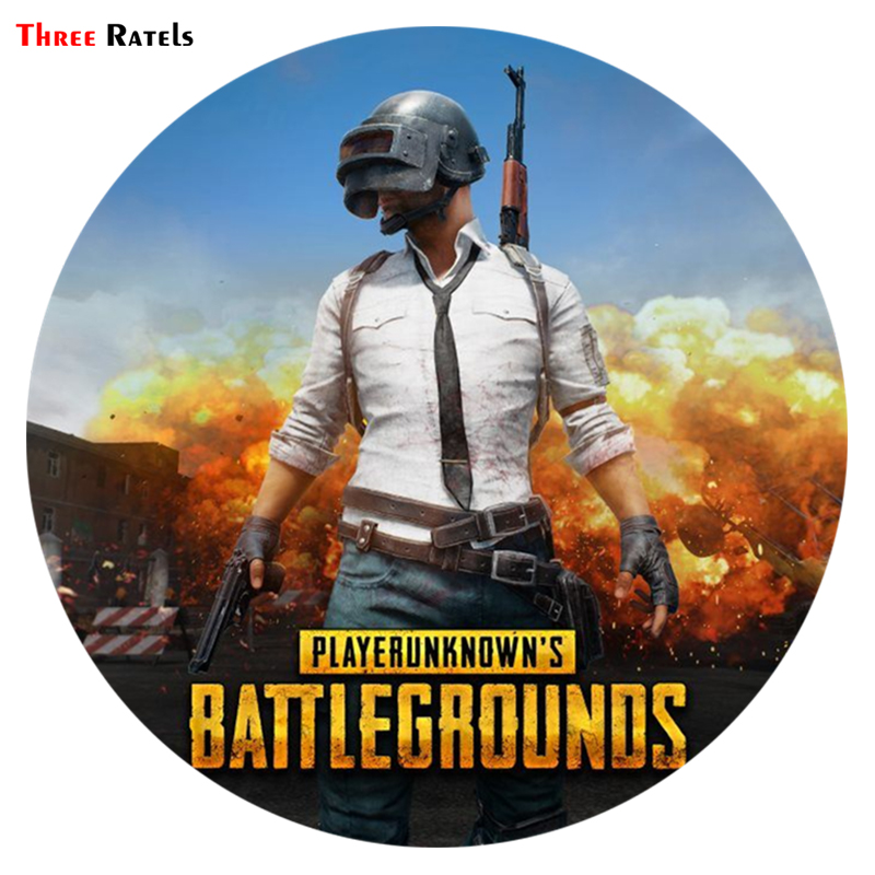 Three Ratels TRL581# 14x14cm Colorful Car Stickers Playerunknown Battlegrounds PUBG Funny Car Stickers And Decals