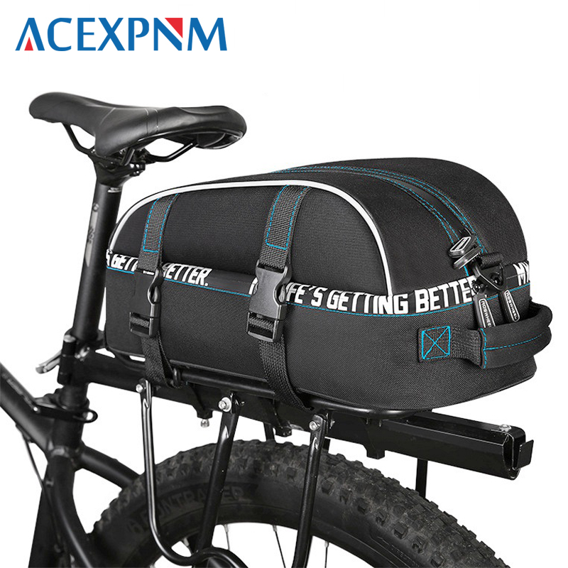 Acexpnm Waterproof Cycling Bag Bike Rear Rack Bags Bicycle Shelf Utility Pocket Shoulder Pack Riding
