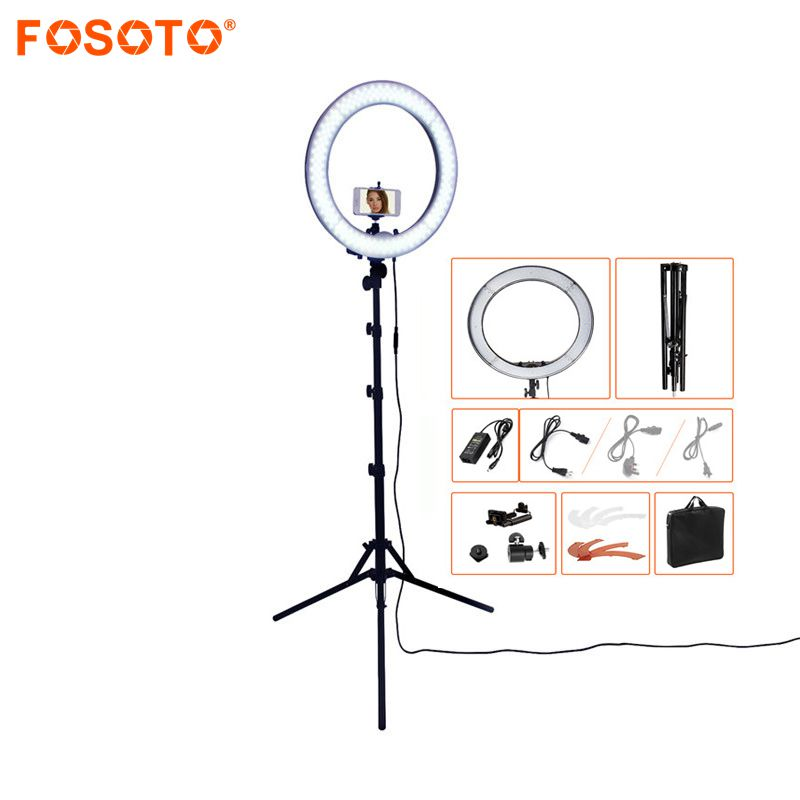 RL 18 Camera Photo Studio Phone Video 18 55W 240 LED Ring Light 5500K Photography Dimmable