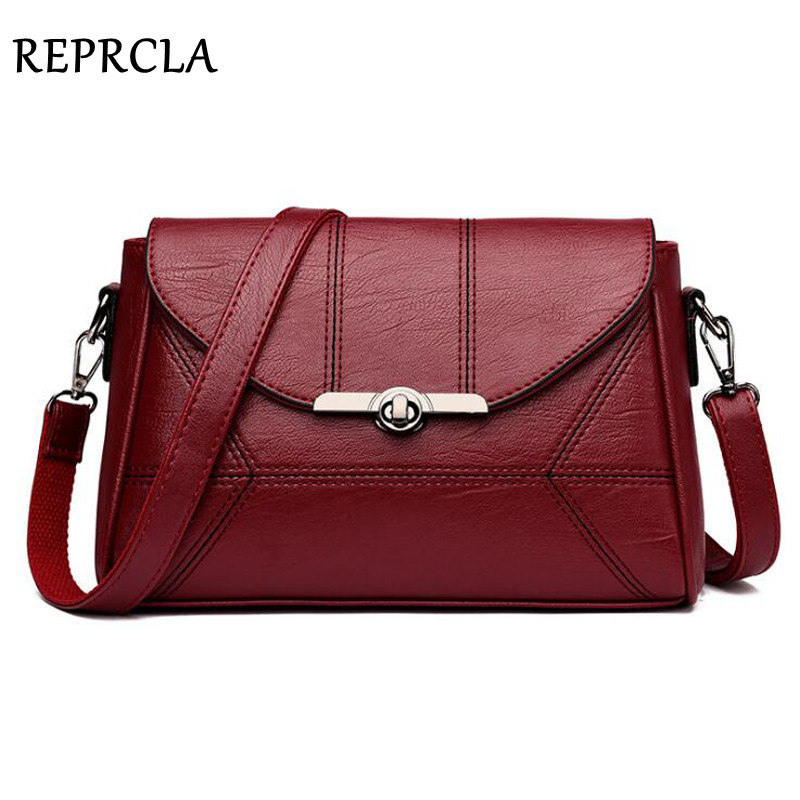 REPRCLA Shoulder Bag 2019 New Fashion Women Messenger Bags High Quality Handbag PU Leather Crossbody Bags For Women Bolsa