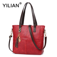 YILIAN Cute Cat Women Handbag Multifunctional Tassel Leather Bag with Big Capacity Classic Black Red PU Fashion Bags 706