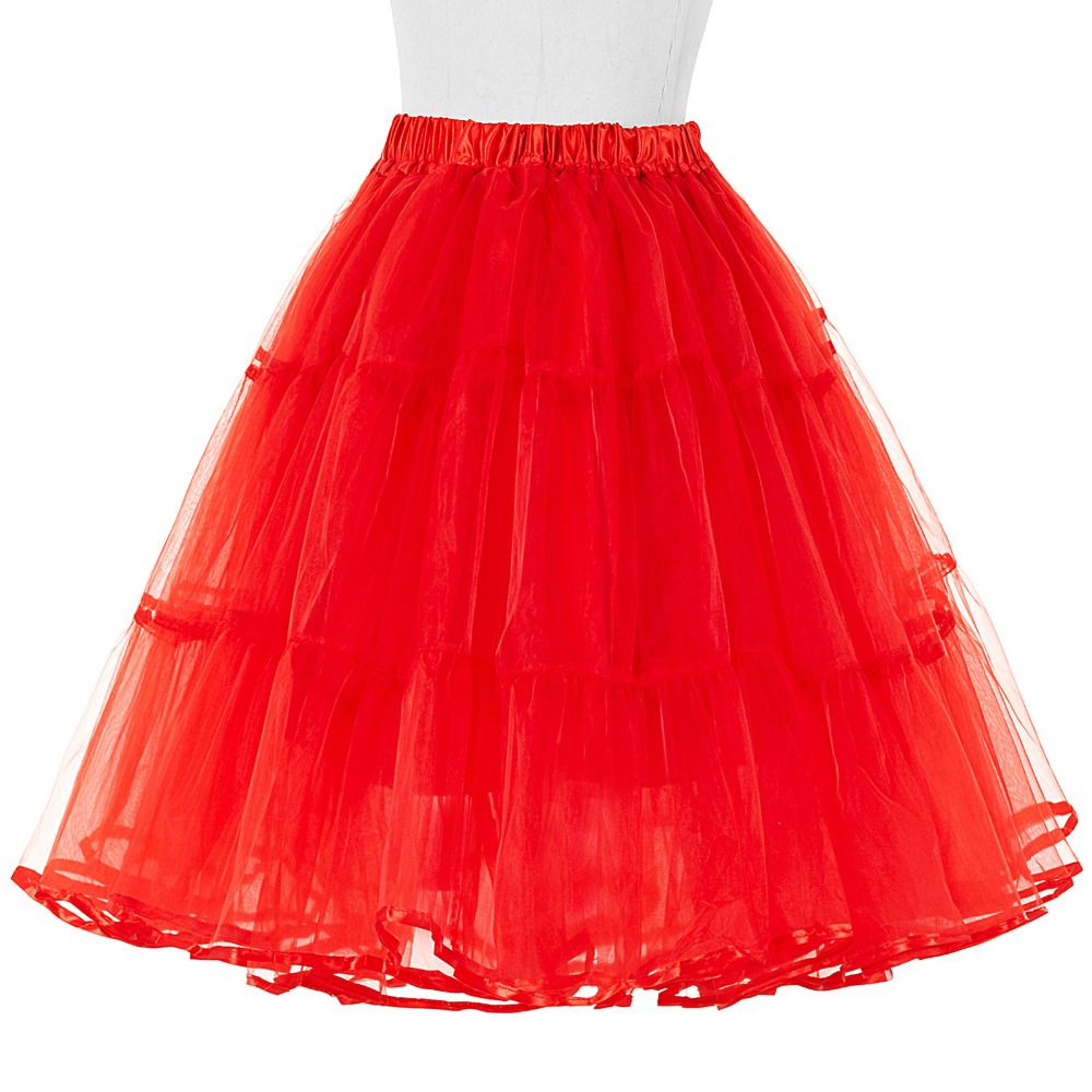 Tulle Rok Lipit Fluffy Rockabilly Ayunan Rok Underskirt Crinoline - Pakaian Wanita - Foto 6