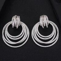 Siscathy Luxury Elegant Cubic Zirconia Drop Earrings For Women Wedding Earrings Fashion Jewelry Trendy Party Accessories