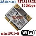 Realtek rtl8188ce wireless wifi wlan placa acer asus toshiba 150 802.11bgn rede modem 100mbps half mini pci-e pcie para laptop