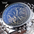 JARAGAR Moda Gran Dial de Alta Calidad Auto Fecha Hombres de Venda de Acero Inoxidable Mecánico Automático Tourbillon Reloj relogio masculino