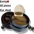 2016 Nuevos Ojos Máscaras Cuidado de La Piel 60 Unidades Negro Perla Gel máscara de Cuidado de la piel Líneas Finas Diluir El Ojo Negro Ojo Máscara Reposición
