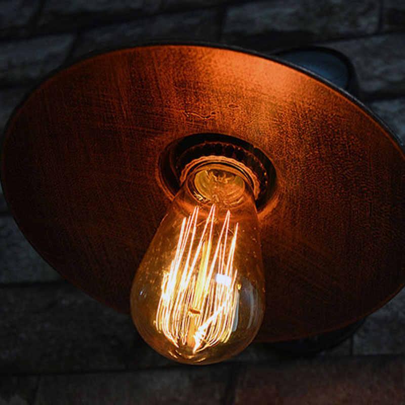 Лампы в стиле лофт подражали водопровод E27 настенный светильник для спальни ресторан паб кафе бар коридор прохода света ретро бра бюстгальтер