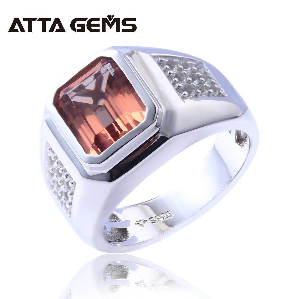 Zultanite Solid Sterling Silver Rings for Men Wedding Engagement 5 Carats Created Zultanite Rings Diaspore Men