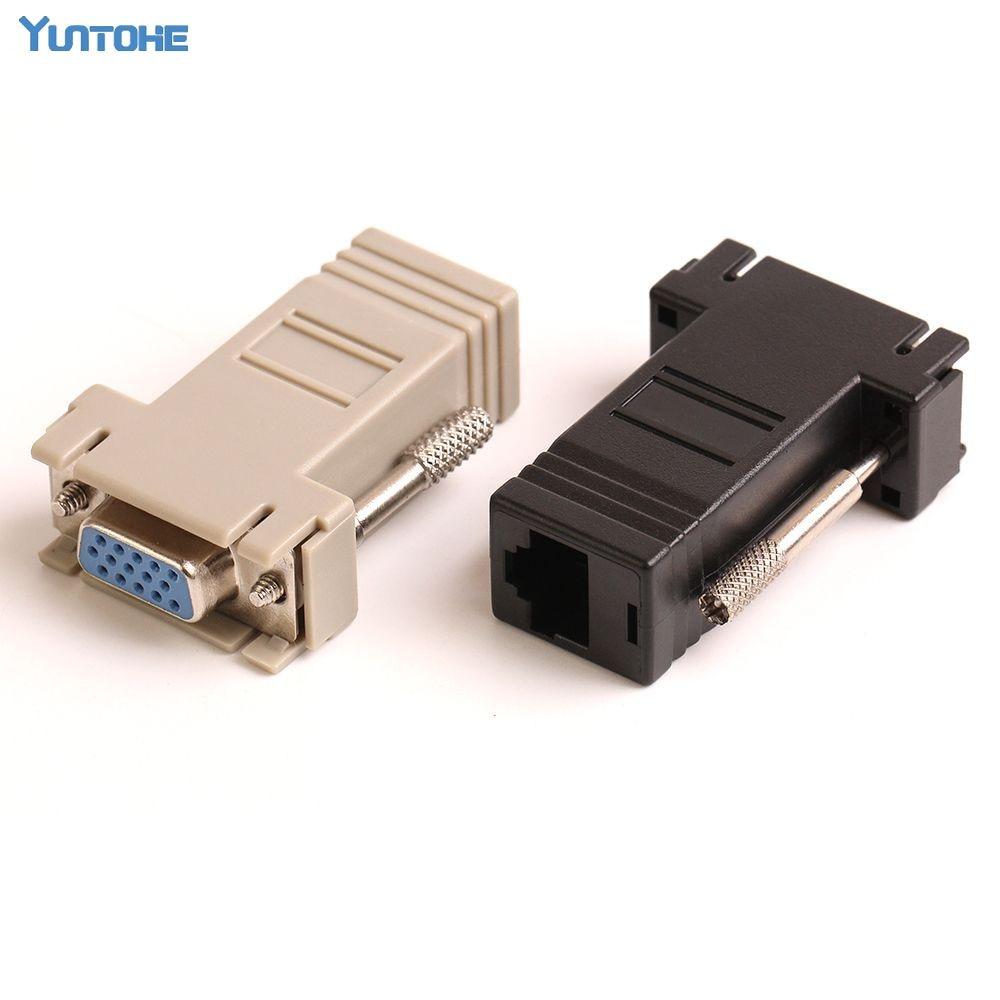ZJT41 Hot Selling New VGA Extender Female To Lan Cat5 Cat5e RJ45 Ethernet Female Adapter 100pcs